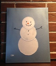 Large Snowman #1 Fabric Wall Art by CottonwoodCove on Etsy