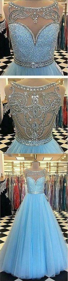 2017 blue long evening dress prom dress party dress