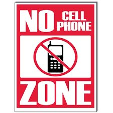Image result for no cell phone use signs