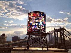 Vidrieras torre de agua | Brooklyn Nueva York.