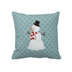 #Snowman: Throw #Pillow