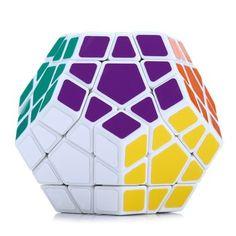 สินค้าที่คุณกำลังมองหา Shengshou Megaminx Dodecahedron Magic Cube Brain Teaser - WHITE - Intl ราคาถูก คุณภาพดี คุ้มราคา