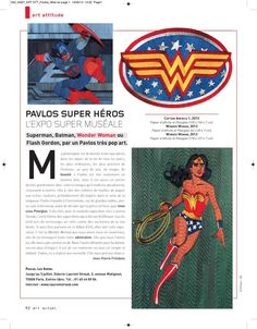 Art actuel consacre un article à l'exposition Pavlos les super!
