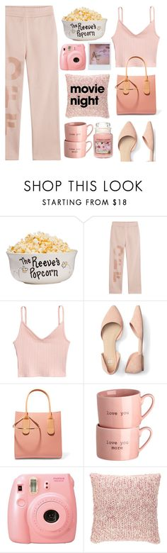 """""""I Bring the Popcorn: Movie Night"""" by pure-vnom ❤ liked on Polyvore featuring Off-White, Roksanda, Fuji, Pine Cone Hill, Yankee Candle, Band of Outsiders and movieNight"""
