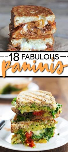 There's a reason I got a Panini machine (panini-maker? Paninis are fantastic. And these are 20 Outrageously Yummy Paninis that Will Make Your Lunch Fabulous. Best Panini Recipes, Grilled Cheese Recipes, Sandwich Recipes, Sandwich Menu, Healthy Sandwiches, Sandwiches For Lunch, Finger Sandwiches, Breakfast Sandwiches, Sandwich Toaster