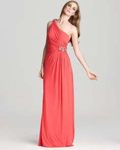 LM by Mignon Gown - Beaded One Shoulder | Bloomingdale's. Why did they close the Bloomingdale's at the MOA????