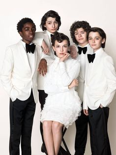 Millie Bobbie Brown and cast of Stranger Things