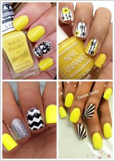 💛Yellow Manicures To Try This Summer!💛 #Beauty #Musely #Tip