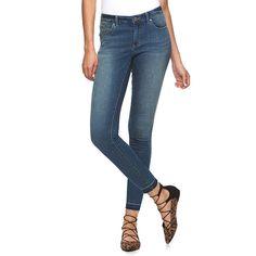 Petite Jennifer Lopez Release Hem Skinny Ankle Jeans, Women's, Size: