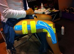 KT Pro Taping for IT Band pain - now, looking good, feeling better!