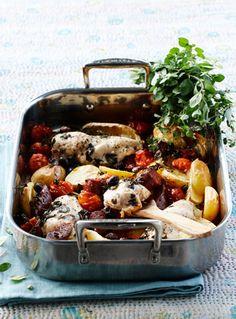 Kylling med cherrytomat, citron og kartofler- lækkert og nemt