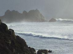 Storm at Logan Rock