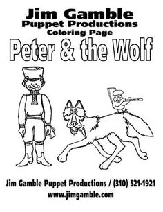 peter and the wolf coloring book - Peter Wolf Coloring Pages