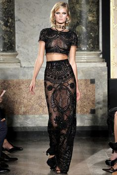 Emilio Pucci Spring 2012 RTW Two Piece Sequin Sheer Gown. This shihhh took my breath away! He is so talented.