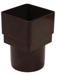 Floplast Square to Round Square/Round Downpipe Adaptor, Brown | Departments | DIY at B&Q
