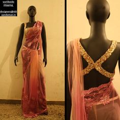 Ekta & Aman Gorgeous Net & Chantilly Lace #Saree. For Order Enquiries: designers@ektanadaman.in.