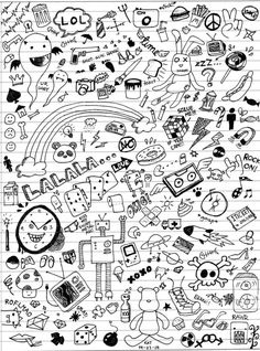 Doodle art class doodles by katmcgeer on deviantart scetch р Doodle Sketch, Doodle Drawings, Easy Drawings, Doodle Art, How To Doodle, Doodle Illustrations, Kritzelei Tattoo, Doodle Tattoo, Simple Doodles
