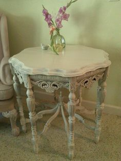SOLD SOLD SOLD White Shabby Chic Mersman Occasional by RightUpMyAlleyDesign  REVIEW    The table is beautiful and so ornate. I found the seller very helpful and great with communication. Even during a delivery issue which was out of our control, she was very quick to help resolve the issue. I really appreciate it!
