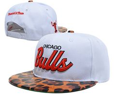 NBA Chicago Bulls Snapback Hats Caps White Snakeskin clasp 2323! Only $8.90USD