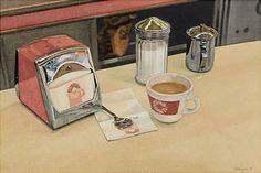 "Ralph Goings, ""Dunkin' Donuts Coffee Shop"" (1974)"