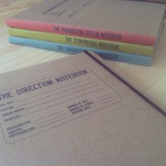 A set of notebooks for a Film Director | Un set de cuadernos para la primer peli de una Directora de Cine.