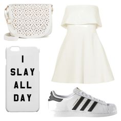 """White"" by albertrkrogstrup on Polyvore featuring Elizabeth and James, Under One Sky and adidas"