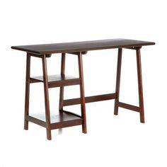 A-frame Espresso Desk | Overstock.com
