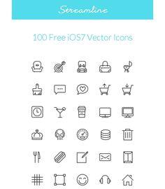 Streamline iOS 7 Vector Icons