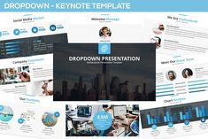 Dropdown Keynote Presentation by SlideFactory on Presentation Design Template, Business Presentation, Design Templates, Image Layout, Great Team, Meet The Team, Lights Background, Keynote Template, Color Themes