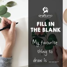 """Fill in the blank: """"My favourite thing to draw is _____. Art Supplies, Cruelty Free, Fill, Eco Friendly, My Favorite Things, Drawings, Creative, Crafts, Manualidades"""
