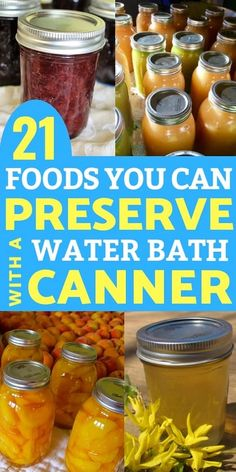 21 Foods You Can Preserve in a Water Bath Canner Food Preservation: Are you confused about what foods can be preserved in a water bath canner versus a pressure canner? Here are 21 foods you can CAN in a water bath canner! Pressure Canning Recipes, Home Canning Recipes, Canning Tips, Jam Recipes, Pressure Cooking, Cooker Recipes, Canning Food Preservation, Preserving Food, Preserving Pumpkins