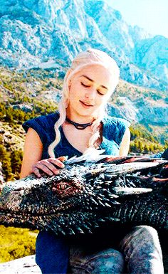 Daenerys Targaryen and Drogon ~ Game of Thrones