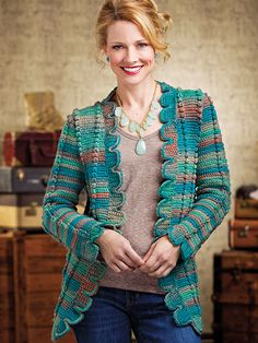 Crochet - Box-Trim Jacket - #EC01142