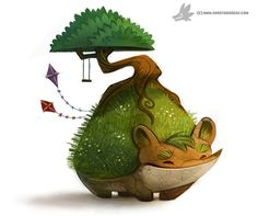 Daily Painting 883. Earth Day Chia, Piper Thibodeau on ArtStation at https://www.artstation.com/artwork/daily-painting-883-earth-day-chia