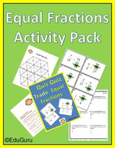 Equal Fractions Cooperative Learning Pack  from EduGuru on TeachersNotebook.com -  (16 pages)  - These activities raise the level of student engagement by creating opportunities for students to share their understanding and learn from each other. It also includes a detailed explanation of how it