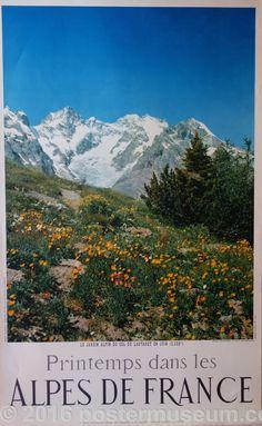 Printemps dans les Alpes De France col du Lautaret  Hautes-Alpes 2058m  c.1970 24 x 39 in (61 x 99 cm)