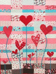 Heart Garden quilt tutorial by CraftSewCreate for Moda Bakeshop.  Featured at Quilt Inspiration.