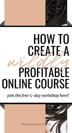 [FREE WORKSHOP] How to Create a Wildly Profitable Online Course - Finance tips, saving money, budgeting planner