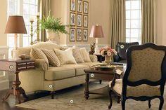 The traditional Jefferson sofa makes an elegant statement!
