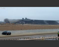Hollywood Park Racetrack Grandstand Implosion