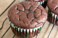 The Healthy Happy Wife: Chocolate Cupcakes or Muffins (Dairy, Gluten/Grain and Refined Sugar Free) Yummy Treats, Delicious Desserts, Sweet Treats, Paleo Treats, Yummy Food, Gluten Free Sweets, Gluten Free Baking, Real Food Recipes, Dessert Recipes