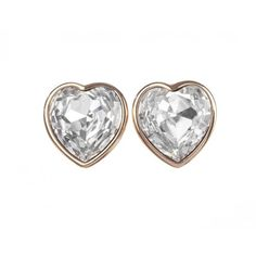 Pre-owned Christian Dior Runway Headlight Cubic Zirconia Heart... ($450) ❤ liked on Polyvore featuring jewelry, earrings, heart shaped jewelry, cz jewelry, 18k earrings, 18k jewelry and 18 karat gold earrings