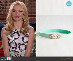 Liv's mint belt on Liv and Maddie.  Outfit Details: http://wornontv.net/52374/ #LivandMaddie