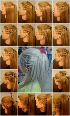 HIGH PONYTAIL WITH SIDE MESH - you can do this at home ~ LOOK
