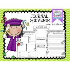 Journal Souvenirs - Fin Année Scolaire Adult Coloring, Coloring Books, French Practice, French Classroom, End Of Year, Grade 1, Elementary Schools, Literacy, Videos