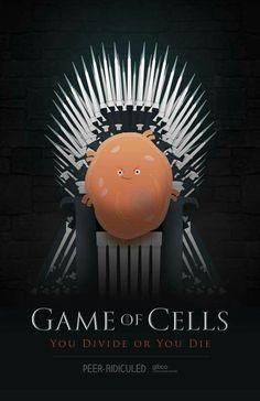 Game of cells. Biology humor GOT