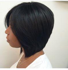 60 Showiest Bob Haircuts for Black Women African-American Collarbone Bob Black Bob Hairstyles, African Hairstyles, Straight Hairstyles, Bob Haircuts, Hairstyles 2016, Short African American Hairstyles, 1930s Hairstyles, Summer Hairstyles, Female Hairstyles