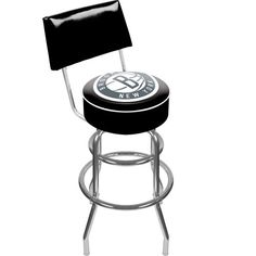 NBA Brooklyn Nets Padded Swivel Bar Stool with Back * Want additional info? Click on the image.