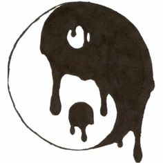 """""""yin yang"""" love the way it drips into itself! I want this on my photo wall Cool Drawings Tumblr, Trippy Drawings, Sad Drawings, Pencil Art Drawings, Drawing Sketches, Easy But Cool Drawings, Hipster Drawings, Drawing Ideas, Sketching"""