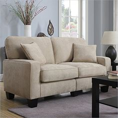 serta navarre collection loveseat 61inch beige httpwww sleeper sofasmodern